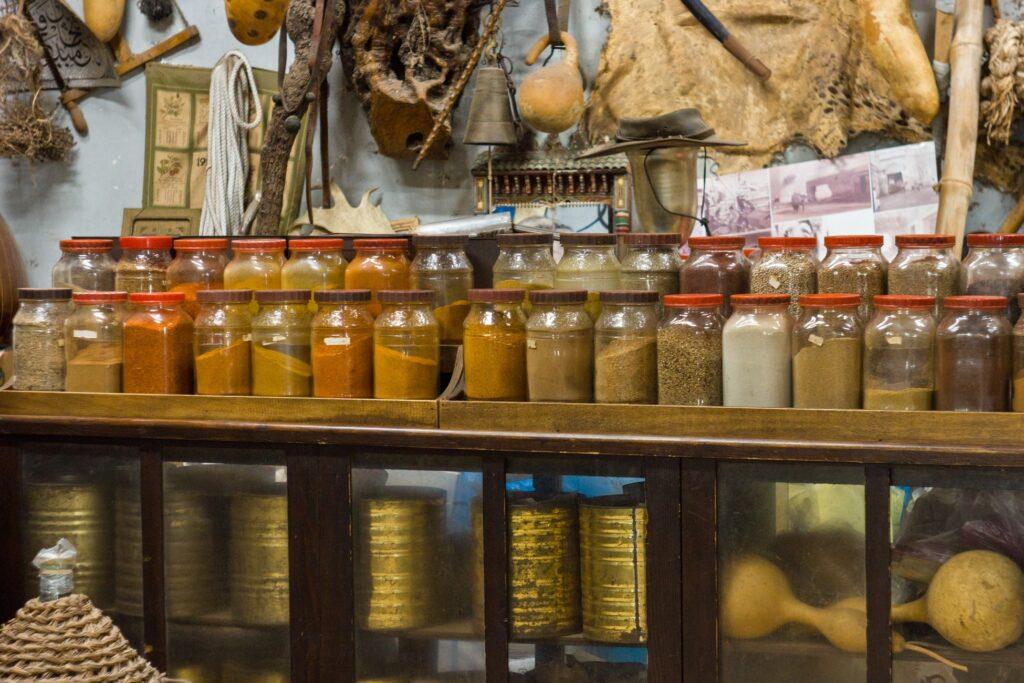 shelf with jars